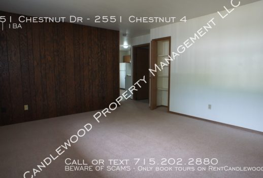 Spacious 1 Bedroom in Plover Available Now!